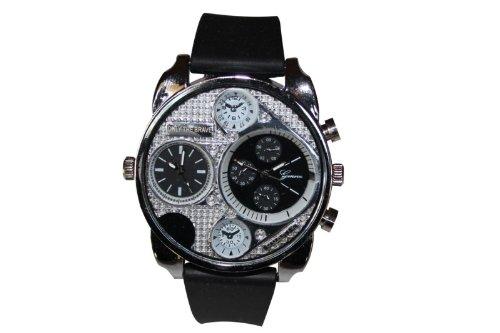 Procuffs Herren Armbanduhr analog digital Metall Weiss W88
