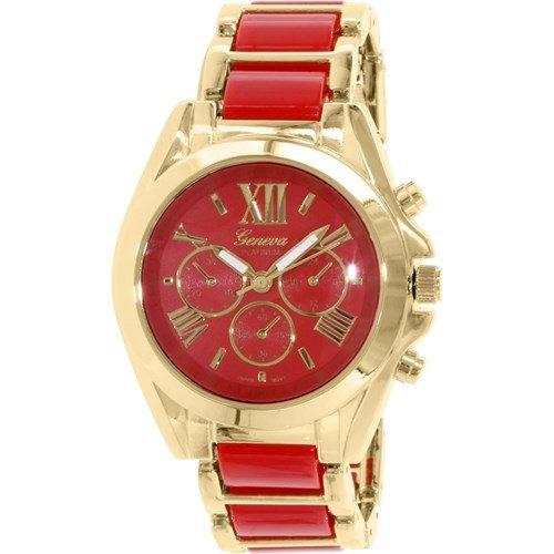 Rot Gold Roemische Zahl Armbanduhr Designer Mode Frauen Geneva Boyfriend W Parfuem