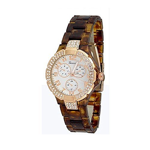 Schildkroete Rose Gold Mode Uhr Acryl Entwerfer Damen Armband Art Chrono