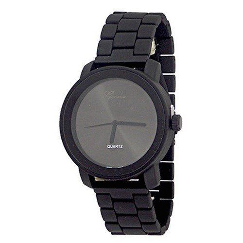 Schwarz Uhr Entwerfer stilvolle Mode Unisex Genf Metallband Damen Titanium