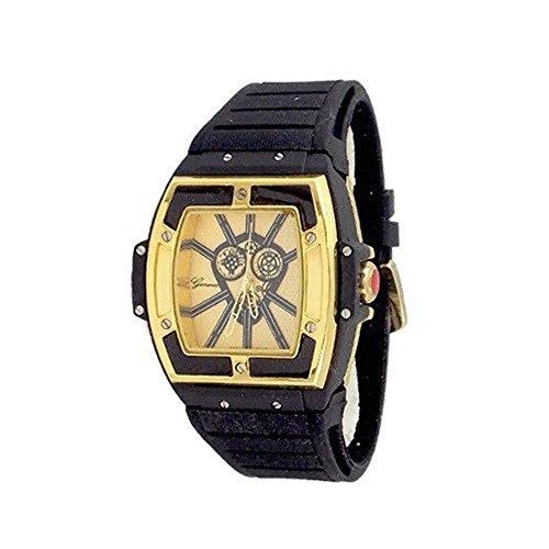 Gold Schwarz Herren Uhr Genf Metall Maxi Freund Entwerfer Mode Gummi