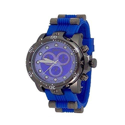 Blau Schwarz Herren Uhr Genf Metall Maxi Freund Entwerfer Mode Gummi