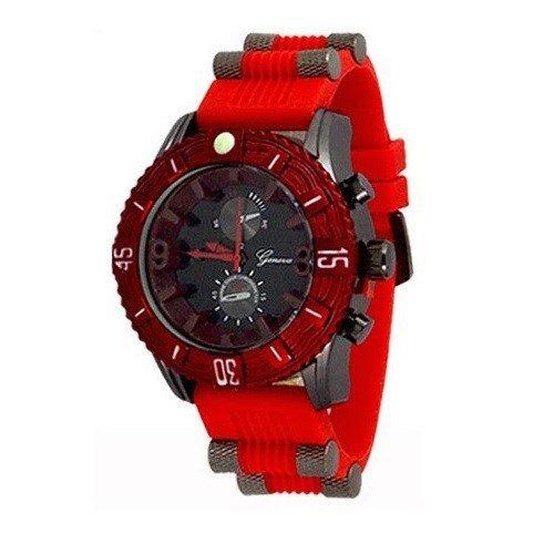 Rot Schwarz Herren Uhr Genf Metall Maxi Freund Entwerfer Mode