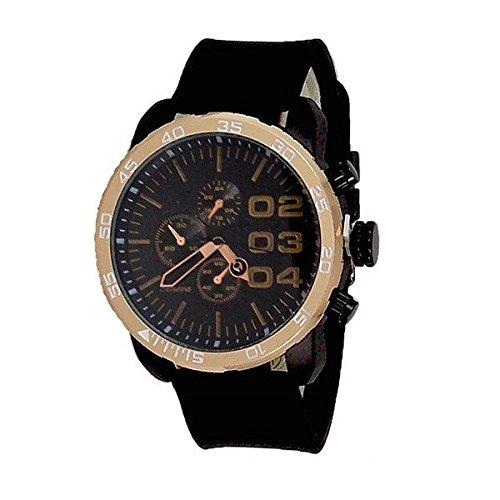 Schwarze Rose Gold Genf Uhr Metall Maxi HerrenSport Gummiband Entwerfer