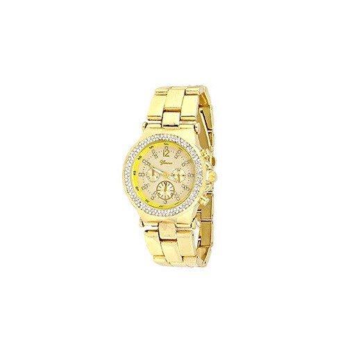 Rose Gold Tortoise Genf Acryl Band Kristall Damen Uhr Designer Mode