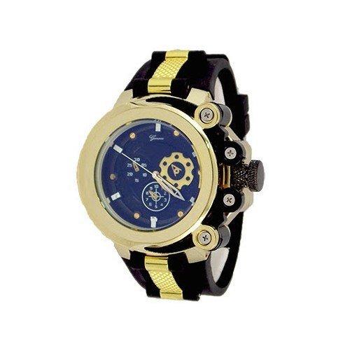 Weiss Blau Schwarz Quarz Uhr mit Nylon Band