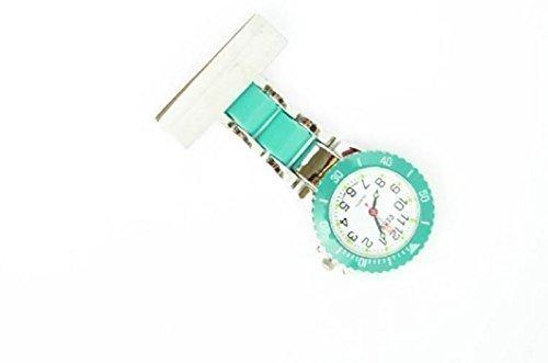 Censi Damen Herren Tuerkis Silber UEberzogene Krankenschwester Kittel Uhren Broschen AErzte Medizinische Uhr