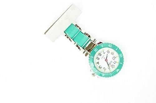 Censi Damen  Herren Tuerkis-Silber UEberzogene Krankenschwester  Kittel Uhren Broschen AErzte Medizinische Uhr