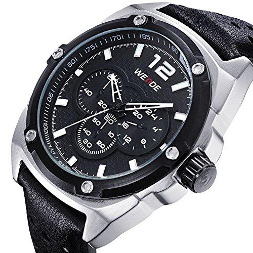 Authentische koreanische Trend Multifunktionslederband Uhren zu Maenner