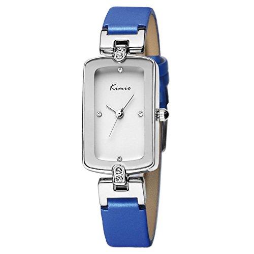 Echtlederband fashion casual blauen Uhren