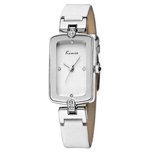 Echtlederband fashion casual white Uhren