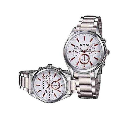 Explosion der Top Modelle Modebusiness Sportuhren Paar Uhren x2 white und Gold