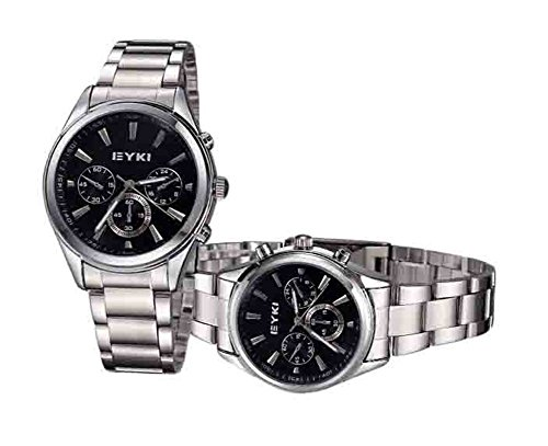 Explosion der Top Modelle Modegeschaeft Sportuhren Paar Uhren x2 schwarz
