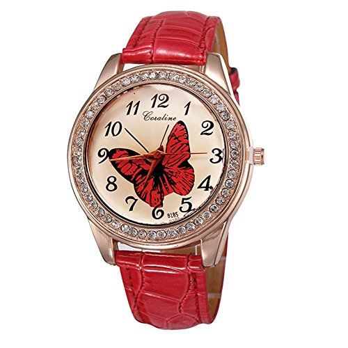 Korean Fashion Damen Diamant Schmetterlingsmuster B rokratie Quarzuhr