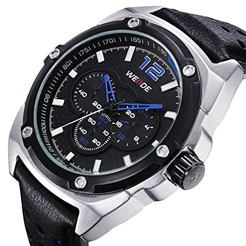 Korean das Armband Trend Multifunktions Leder blauen und schwarzen