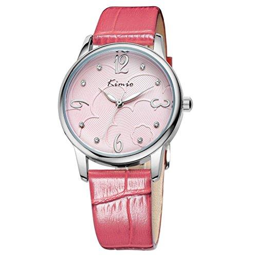 Modenschauen Frau Retro minimalistischen Tisch Diamant Uhren Pink