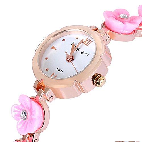 Neue Liste Blume Mode Uhr Uhr school girl foermigen Band Pink