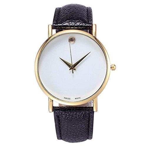 Nouvelle Facon einfache montres femme noir de montre Armband PU