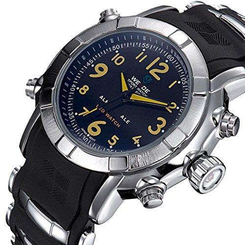 Sports Fashion Multifunktions LED Uhren von M nnern Quarzuhr schwarz und braun Wahl