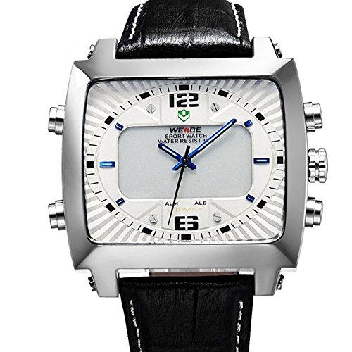 Uhren Weide Art und Weisesport Multifunktions Herrenuhr White