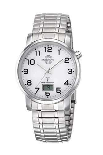 Zugband Herren-Funkuhr Master Time Funk Basic Series Herrenuhr MTGA-10306-12M Herren-Funk-Armbanduhr