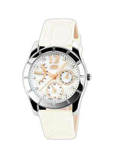 EOZY Wasserdicht Damen Uhren Armbanduhr Damenuhr Quartz Uhr Armreif Armband Weiss