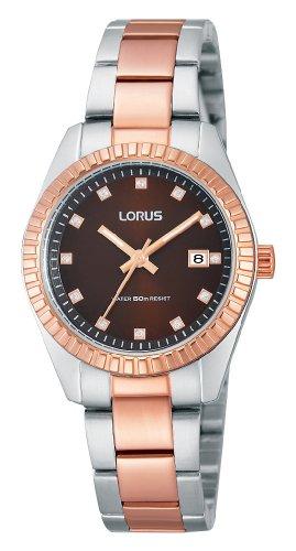 Lorus XS Classic Analog Quarz Edelstahl beschichtet RJ278AX9