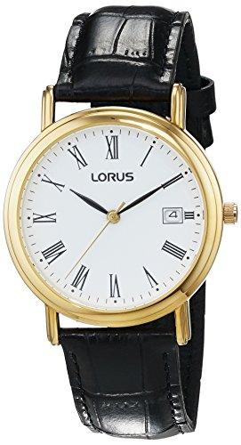 LORUS Herren Armbanduhr Analog Quarz Leder RXD46DX