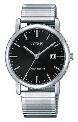 Lorus Watches Herren Armbanduhr Klassik Analog Quarz Edelstahl beschichtet RG857CX9