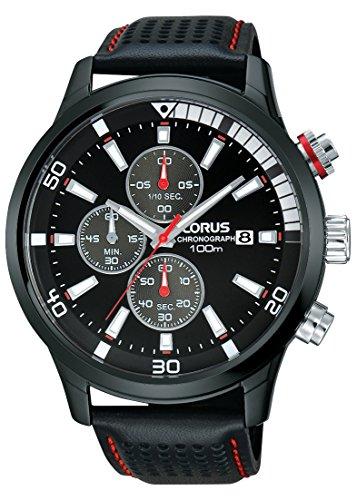 Lorus Watches Sport Chronograph Quarz Leder RM367CX9