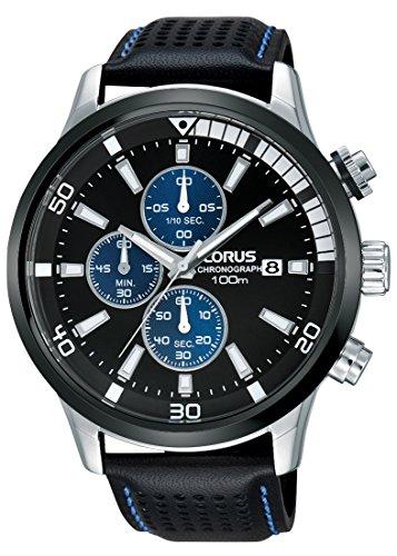 Lorus Watches Herren Armbanduhr Sport Chronograph Quarz Leder RM369CX9