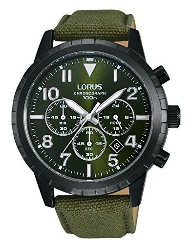 Lorus Watches Herren Armbanduhr Sport Chronograph Quarz Leder RT337FX9