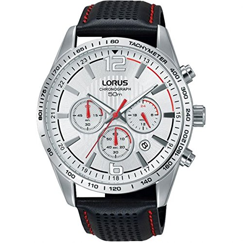 Lorus Schwarz Leder Gurt rt391fx 9