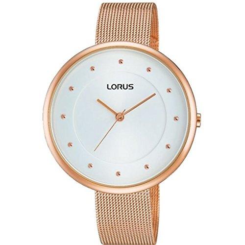 Lorus Ladies Slim Rose Gold Bracelet Watch