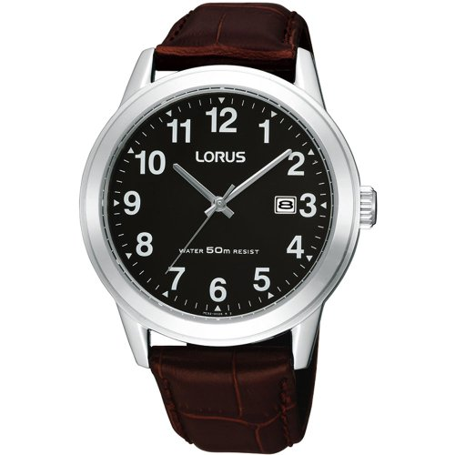 Lorus RH927BX9 Mens Analogue Leather Strap Watch
