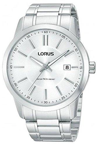 Lorus RS943AX9 Quarz Analog Edelstahl Metallic