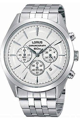 Lorus rt347bx9 Classic Armbanduhr Quarz Chronograph Zifferblatt Grau Armband Stahl Grau