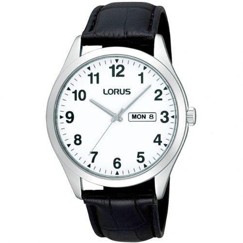 Lorus Watches Mens Classic White Face Quartz Watch