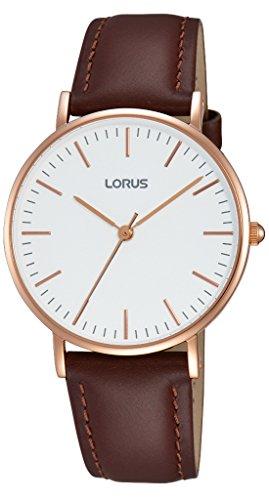 Lorus Watches Klassik Analog Quarz Leder RH886BX9