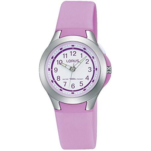 Lorus Watches Kids Purple 100m Sport Watch With White Dial