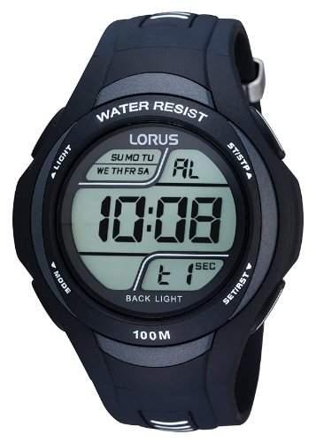 Lorus Herren-Armbanduhr XL Sport Digital Quarz Kautschuk R2305EX9
