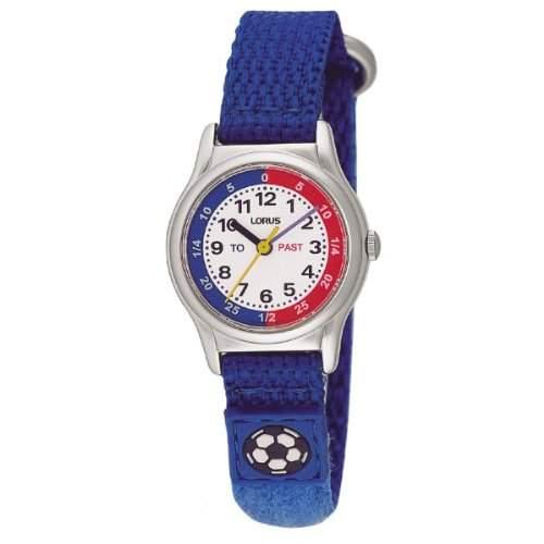 Lorus RG261AX9 Childrens Blue Fabric Strap Time Teacher Analogue Watch