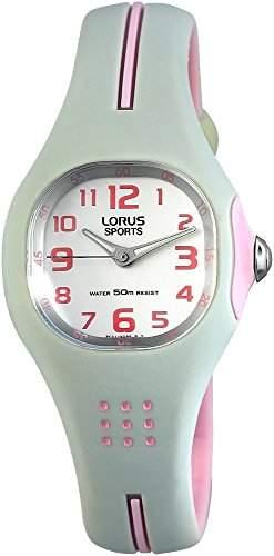 Lorus Kinderuhr mit Kunststoffarmband silberfarbig Armbanduhr Uhr RG285EX-9