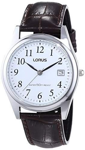 Lorus Herren-Armbanduhr XL Classic Analog Quarz Leder RS965BX9