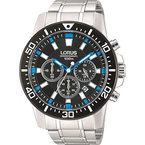 Lorus Herren-Armbanduhr XL Sport Analog Quarz Edelstahl RT355DX9