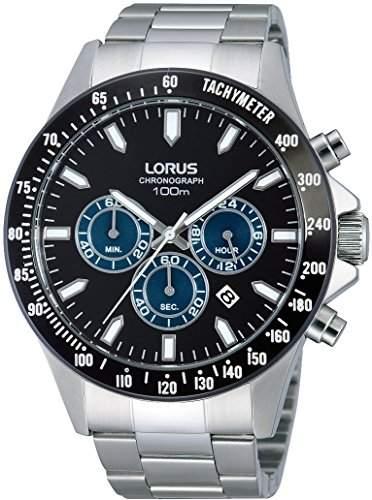 Lorus Herren-Armbanduhr XL Sport Analog Quarz Edelstahl RT375DX9