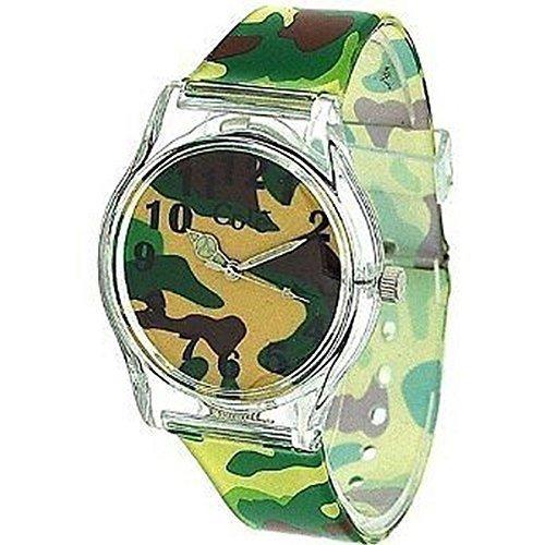 Kern Designer Boys Analog gruen Armee Camouflage Kunststoffband sehen alles aus Kunststoff mit einem zusaetzlichen Akku