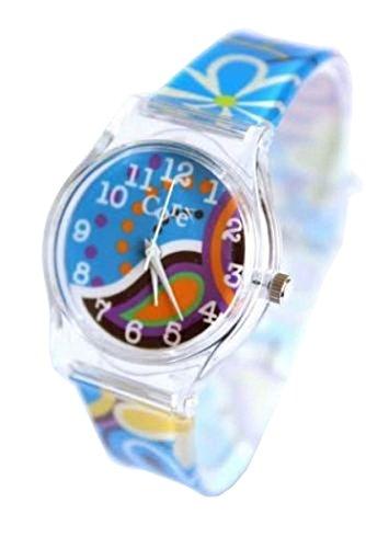 Kern Designer Maedchen sehen blau Floral Strap mehrfarbig Zifferblatt Analog alle Kunststoff mit einem zusaetzlichen Akku