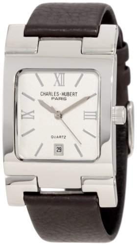 Charles-Hubert Paris Herren 3747-W Premium Collection Stainless Steel Armbanduhr