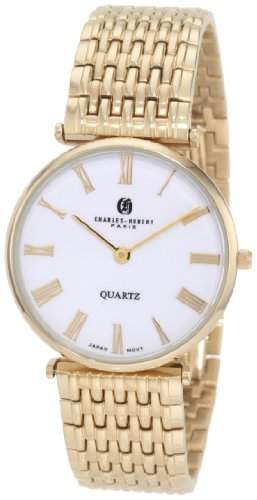 Charles-Hubert Paris Herren Gold-Plated Stainless Steel Quartz Armbanduhr #3798